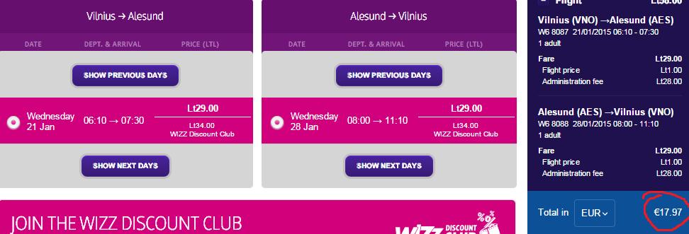 18 евро за билеты в Олесунн