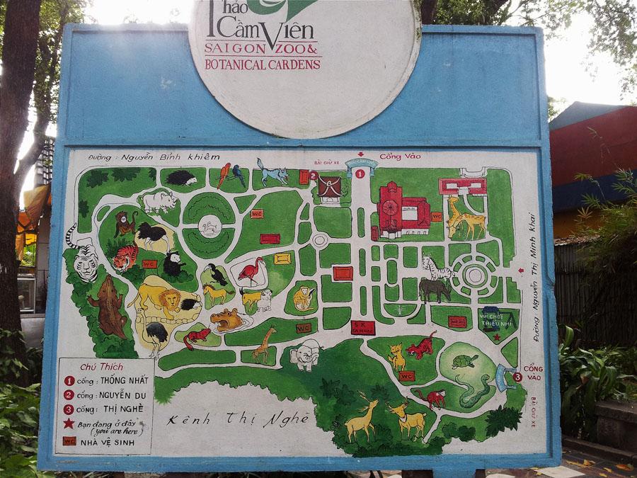 карта зоопарка в хошимине