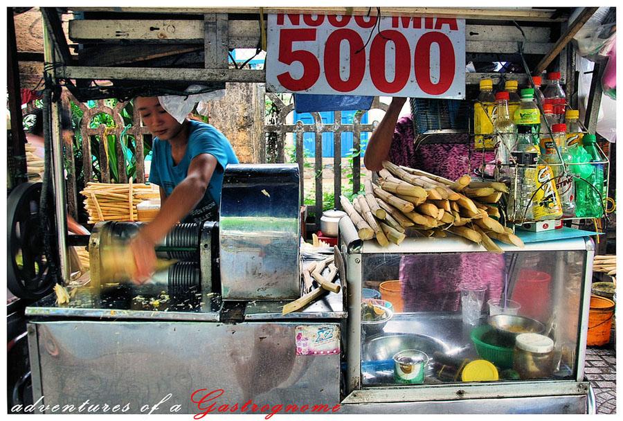 напитки во вьетнаме - сок из тростника