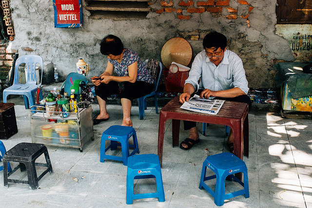 Уличное кафе во Вьетнаме